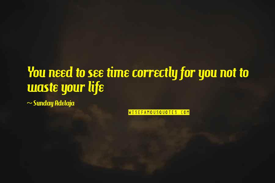 Waste Of Time And Money Quotes By Sunday Adelaja: You need to see time correctly for you