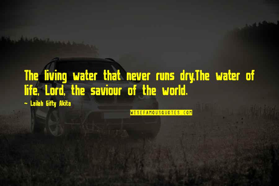 Water Runs Dry Quotes By Lailah Gifty Akita: The living water that never runs dry,The water