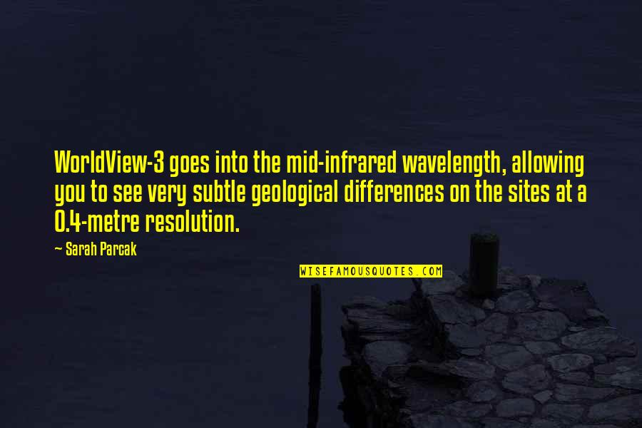 Wavelength Quotes By Sarah Parcak: WorldView-3 goes into the mid-infrared wavelength, allowing you