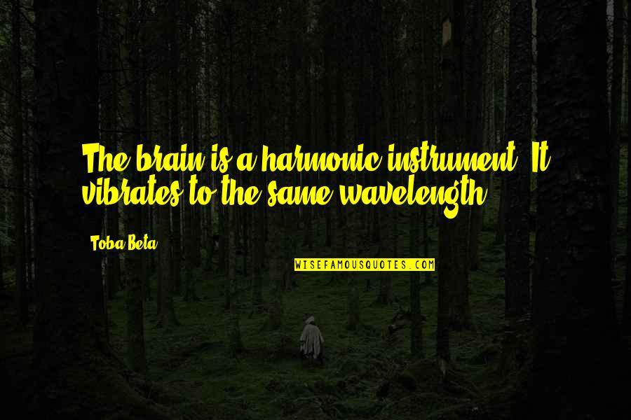 Wavelength Quotes By Toba Beta: The brain is a harmonic instrument. It vibrates