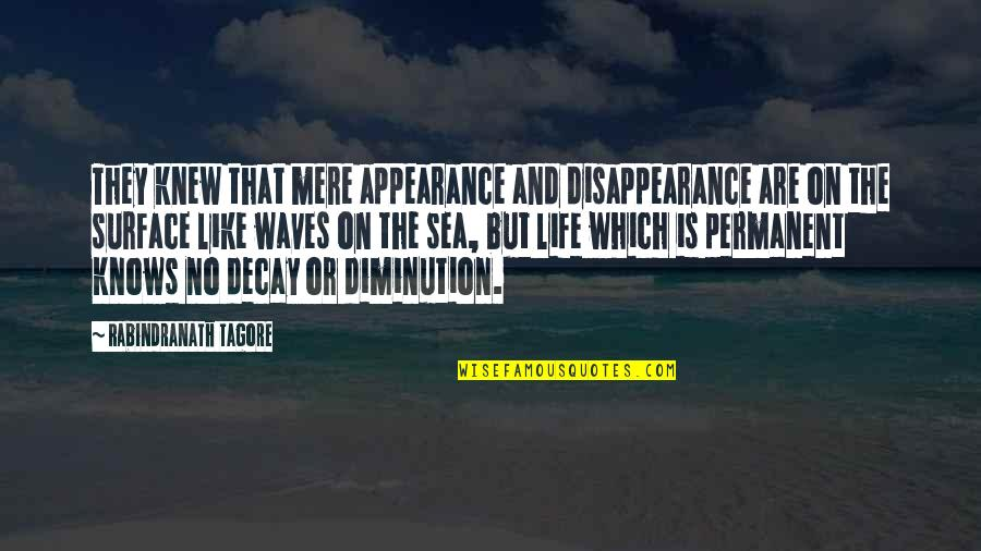 Waves And Life Quotes By Rabindranath Tagore: They knew that mere appearance and disappearance are