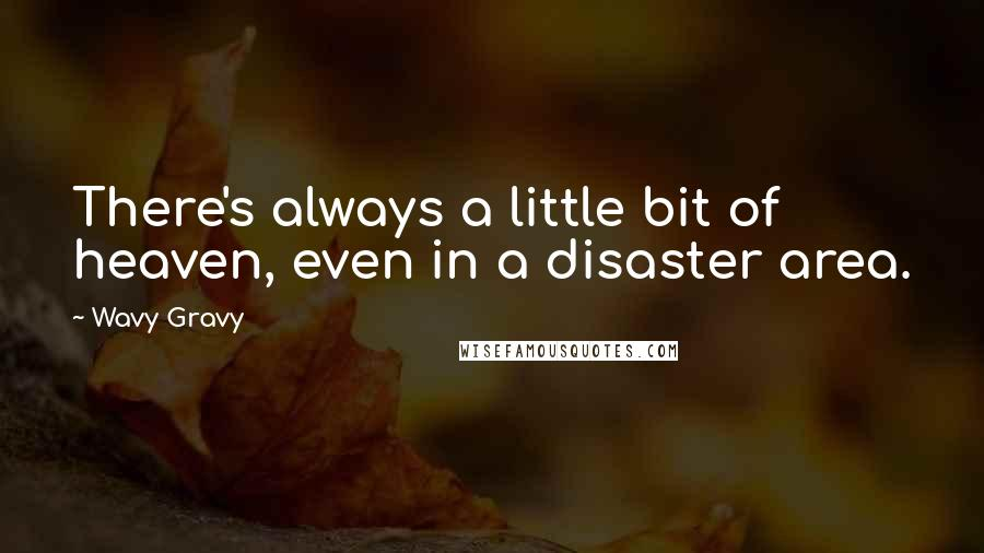 Wavy Gravy quotes: There's always a little bit of heaven, even in a disaster area.