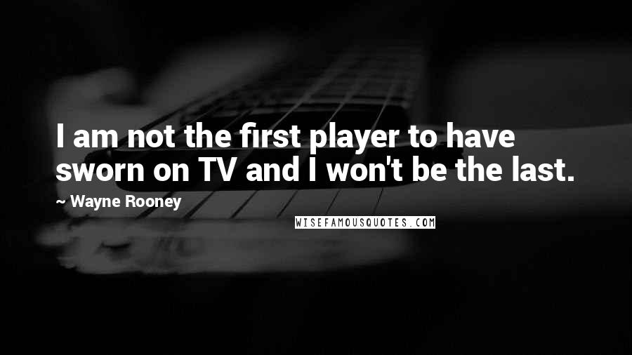 Wayne Rooney quotes: I am not the first player to have sworn on TV and I won't be the last.