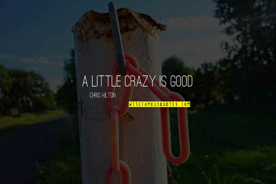 We Are All A Little Crazy Quotes By Chris Hilton: A little crazy is good