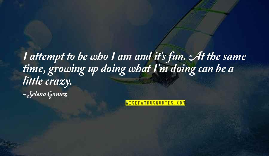 We Are All A Little Crazy Quotes By Selena Gomez: I attempt to be who I am and