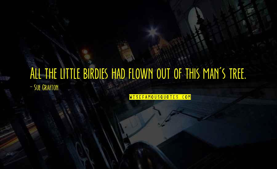 We Are All A Little Crazy Quotes By Sue Grafton: All the little birdies had flown out of