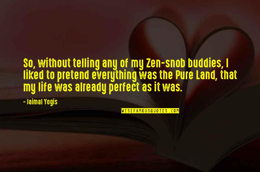 We Are Best Buddies Quotes By Jaimal Yogis: So, without telling any of my Zen-snob buddies,