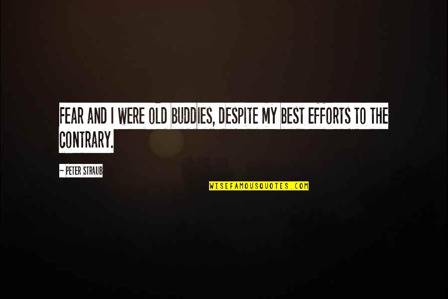 We Are Best Buddies Quotes By Peter Straub: Fear and I were old buddies, despite my