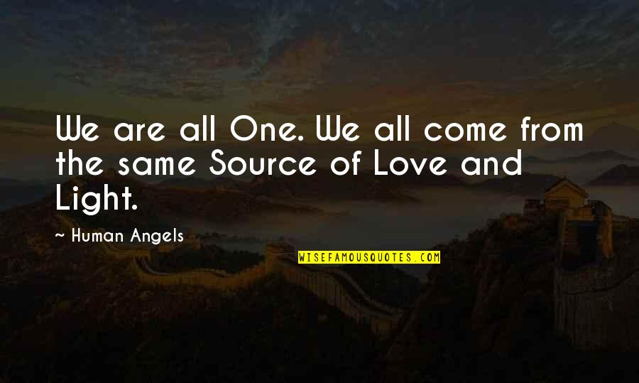 We Are Not Angels Quotes By Human Angels: We are all One. We all come from