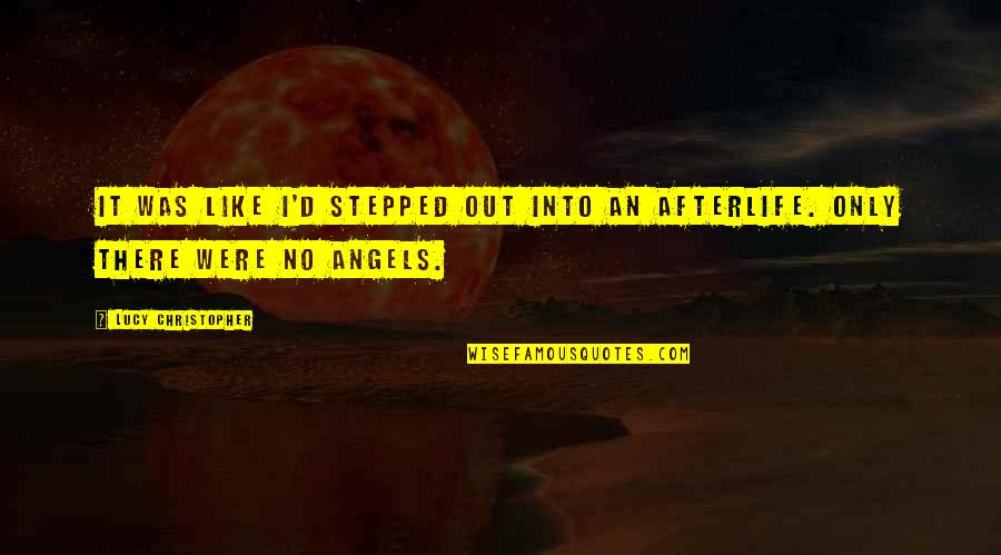 We Are Not Angels Quotes By Lucy Christopher: It was like I'd stepped out into an