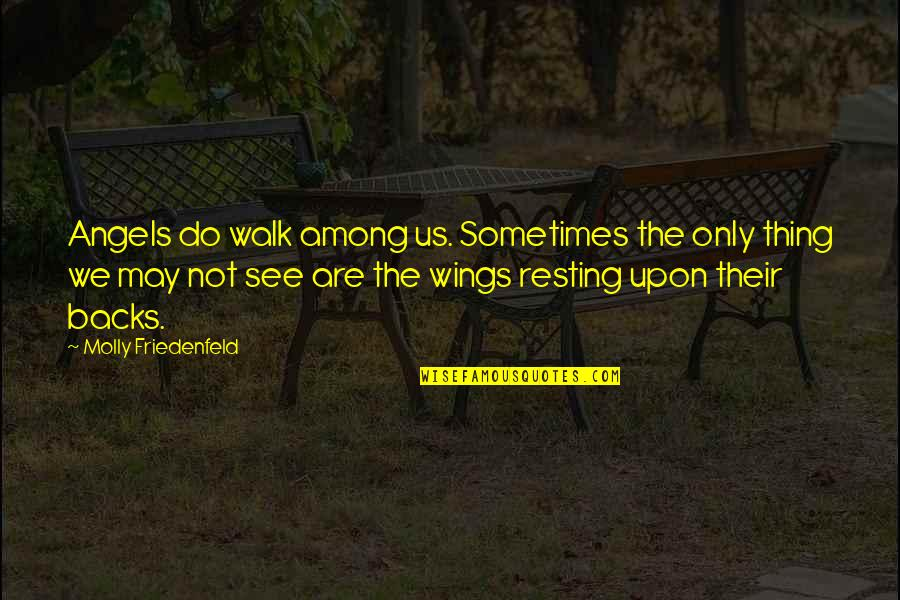 We Are Not Angels Quotes By Molly Friedenfeld: Angels do walk among us. Sometimes the only