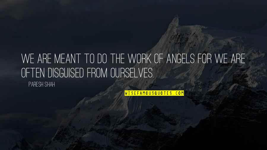 We Are Not Angels Quotes By Paresh Shah: We are meant to do the work of