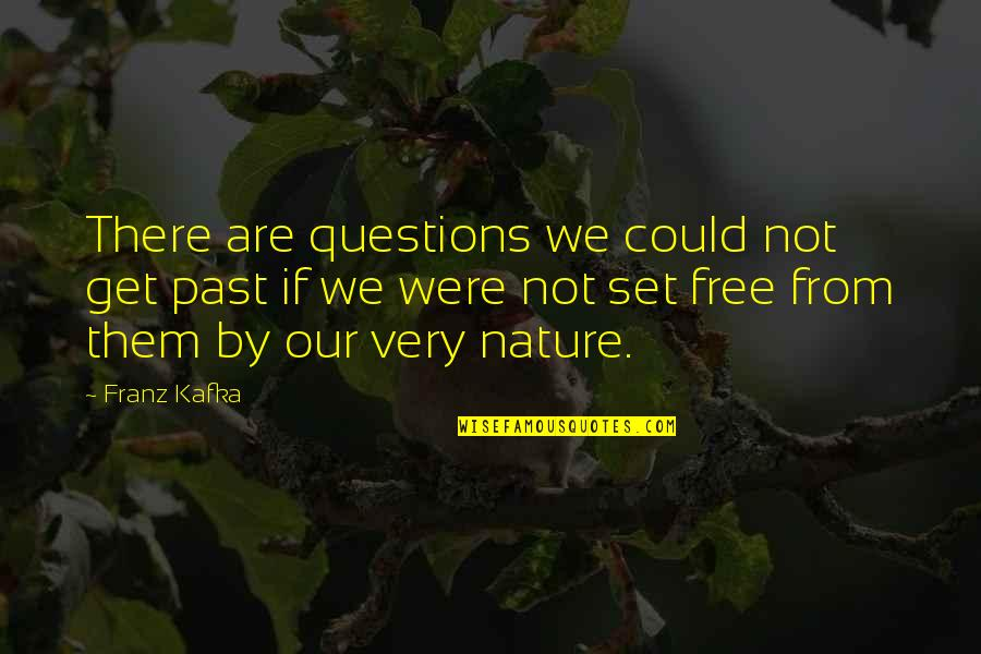 We Are Not Free Quotes By Franz Kafka: There are questions we could not get past
