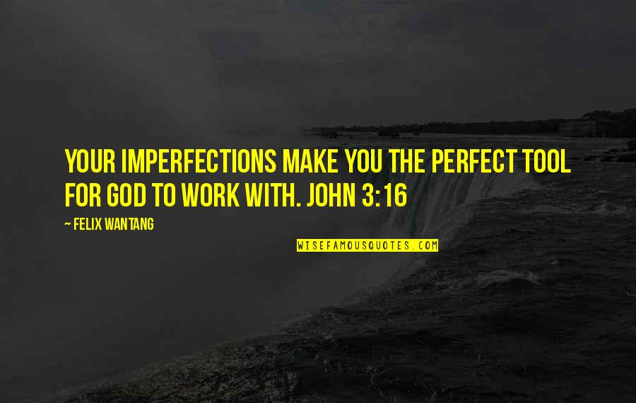 We Are Not Perfect Bible Quotes By Felix Wantang: Your imperfections make you the perfect tool for