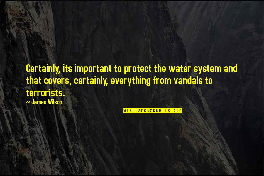 We Enjoyed Your Company Quotes By James Wilson: Certainly, its important to protect the water system