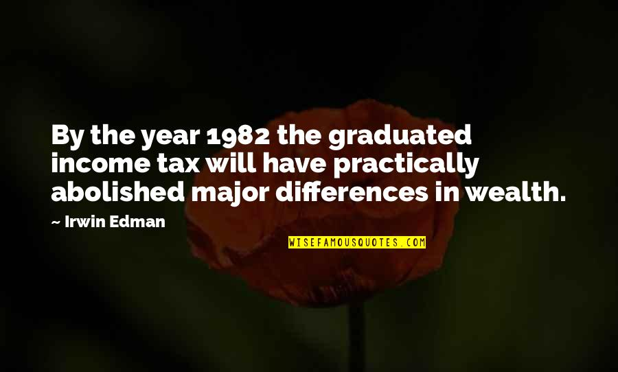 We Graduated Quotes By Irwin Edman: By the year 1982 the graduated income tax