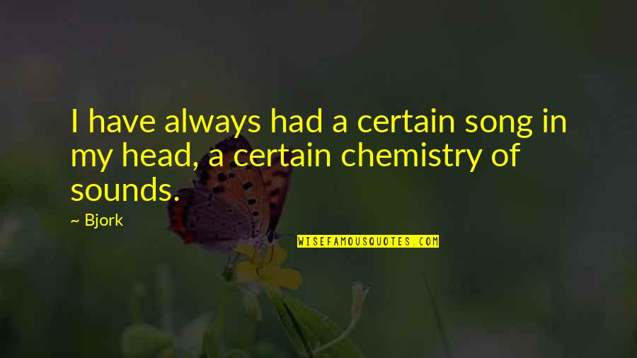 We Have Chemistry Quotes By Bjork: I have always had a certain song in