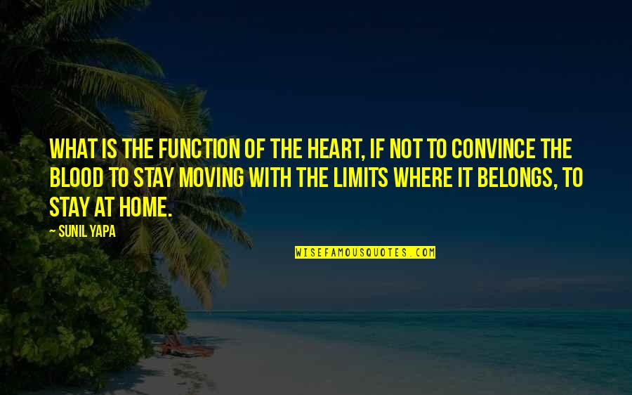 We Heart It Home Quotes By Sunil Yapa: What is the function of the heart, if