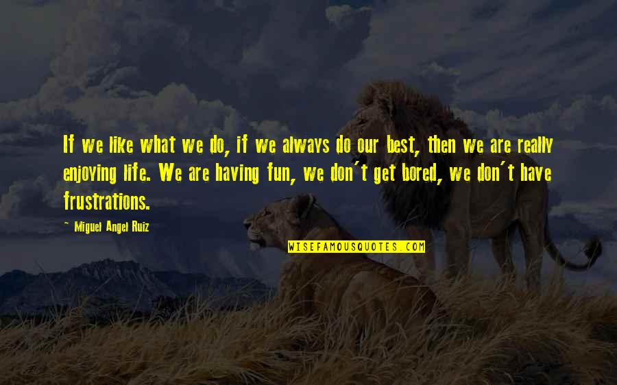 We Like To Have Fun Quotes By Miguel Angel Ruiz: If we like what we do, if we