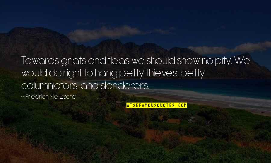 We Should Hang Out Quotes By Friedrich Nietzsche: Towards gnats and fleas we should show no