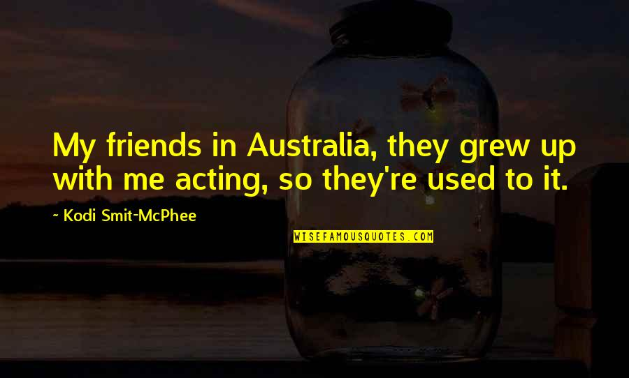 We Used To Be Best Friends Quotes By Kodi Smit-McPhee: My friends in Australia, they grew up with
