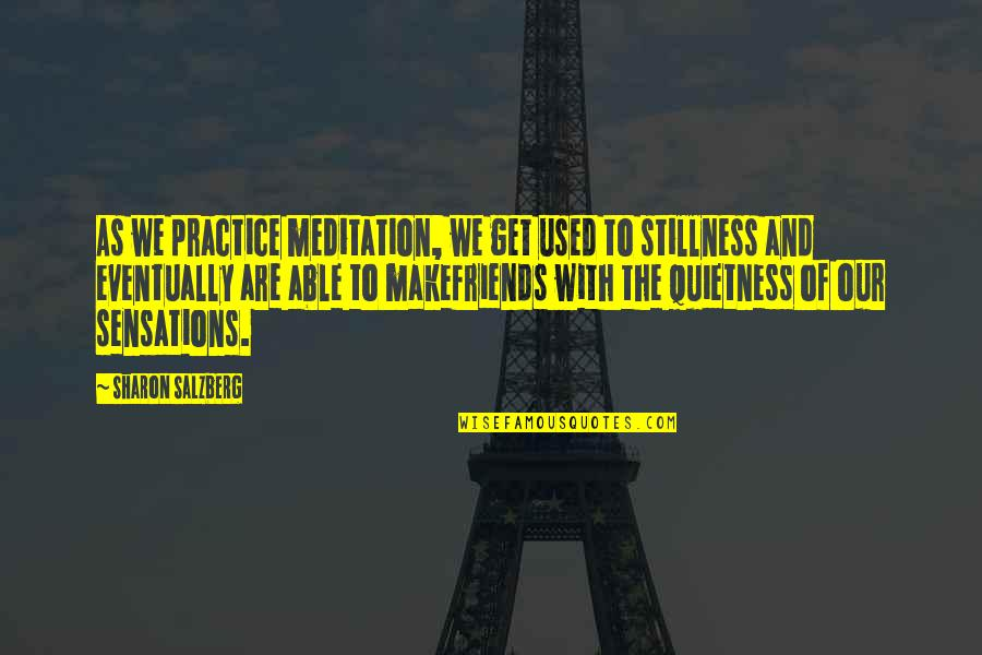 We Used To Be Best Friends Quotes By Sharon Salzberg: As we practice meditation, we get used to