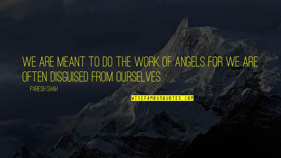 We'be Quotes By Paresh Shah: We are meant to do the work of
