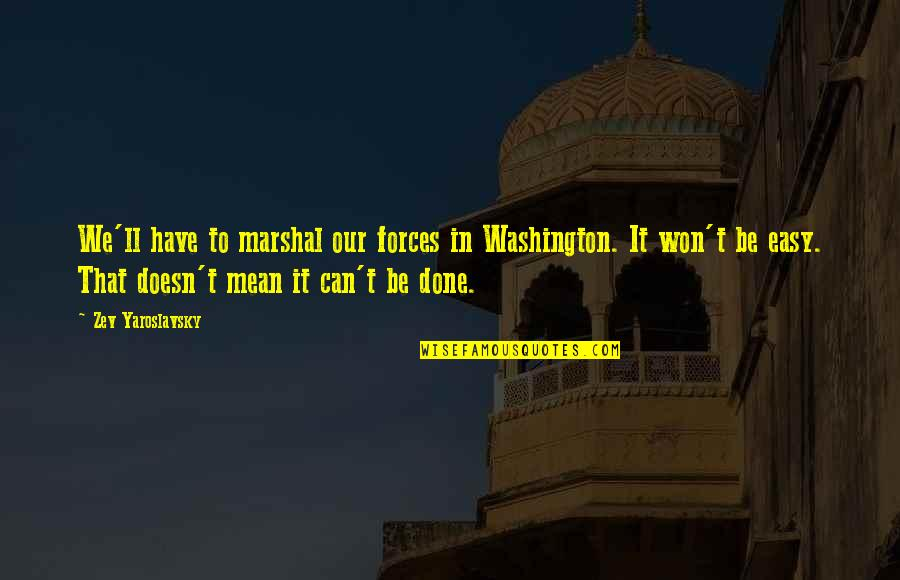 We'be Quotes By Zev Yaroslavsky: We'll have to marshal our forces in Washington.