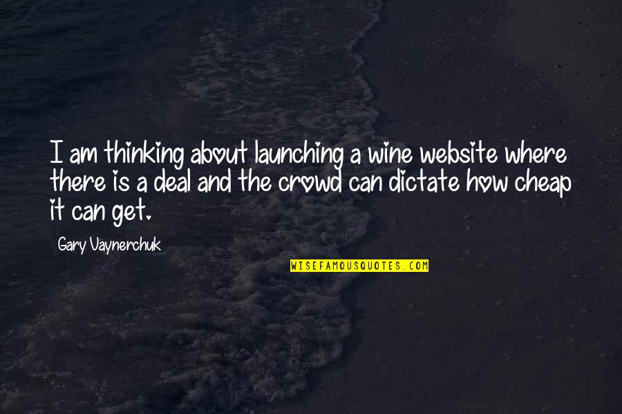 Website Launching Quotes By Gary Vaynerchuk: I am thinking about launching a wine website