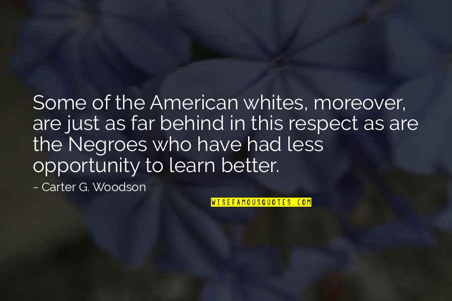 Wed Anniv Quotes By Carter G. Woodson: Some of the American whites, moreover, are just