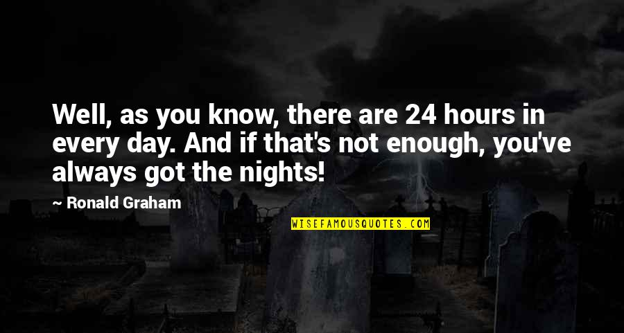 Wed Anniv Quotes By Ronald Graham: Well, as you know, there are 24 hours