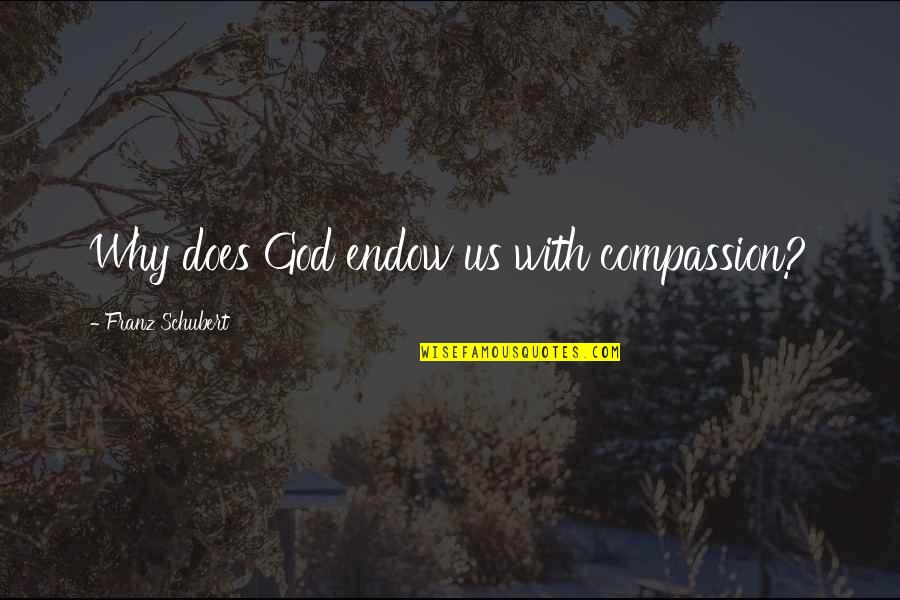 Wedding Flag Quotes By Franz Schubert: Why does God endow us with compassion?
