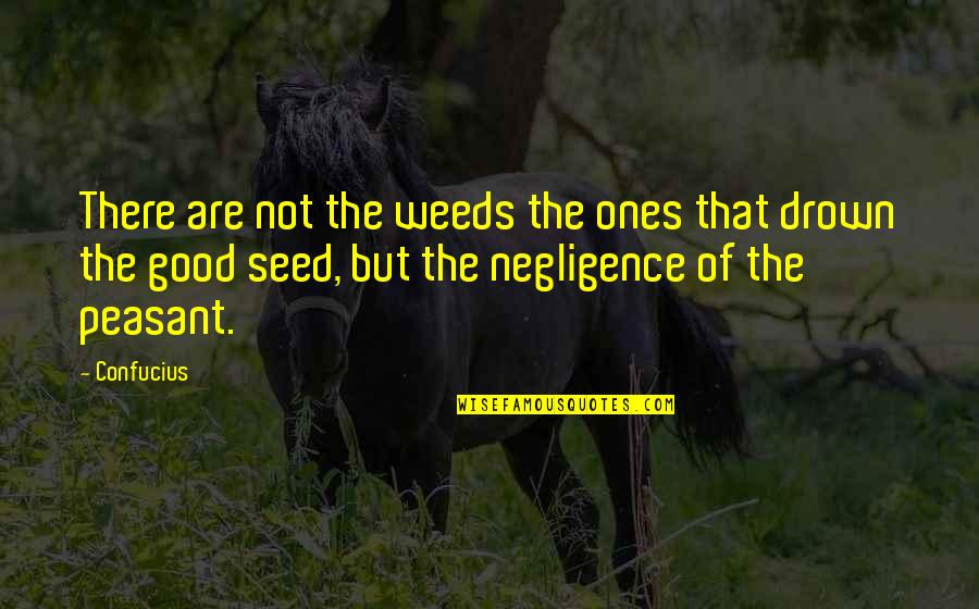 Weeds Quotes By Confucius: There are not the weeds the ones that