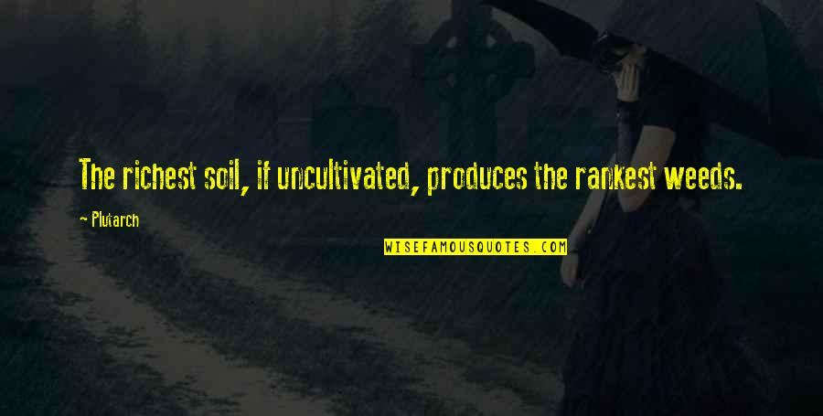 Weeds Quotes By Plutarch: The richest soil, if uncultivated, produces the rankest