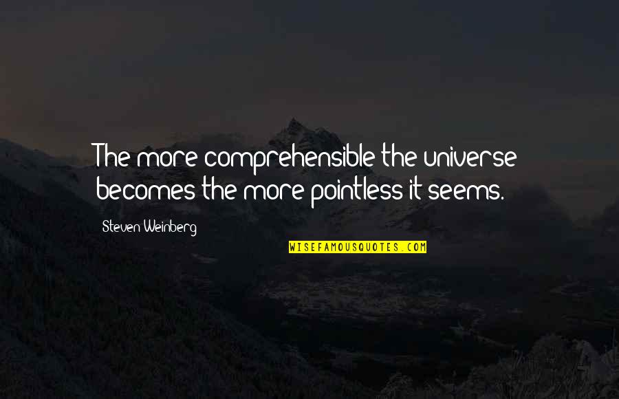 Weinberg Steven Quotes By Steven Weinberg: The more comprehensible the universe becomes the more