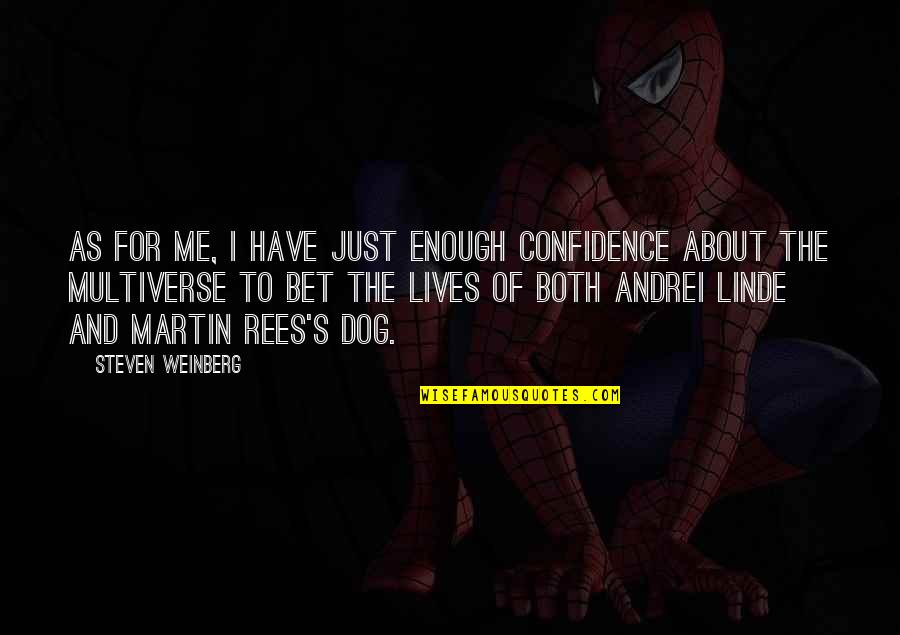Weinberg Steven Quotes By Steven Weinberg: As for me, I have just enough confidence