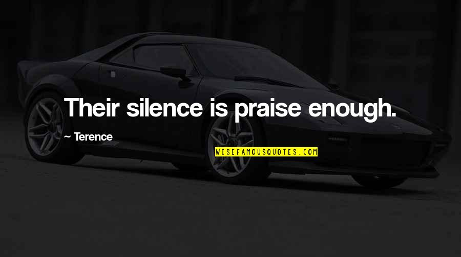Weird Quotes And Quotes By Terence: Their silence is praise enough.