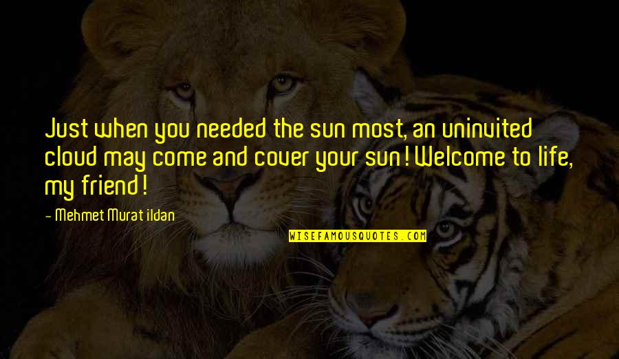 Welcome May Quotes By Mehmet Murat Ildan: Just when you needed the sun most, an
