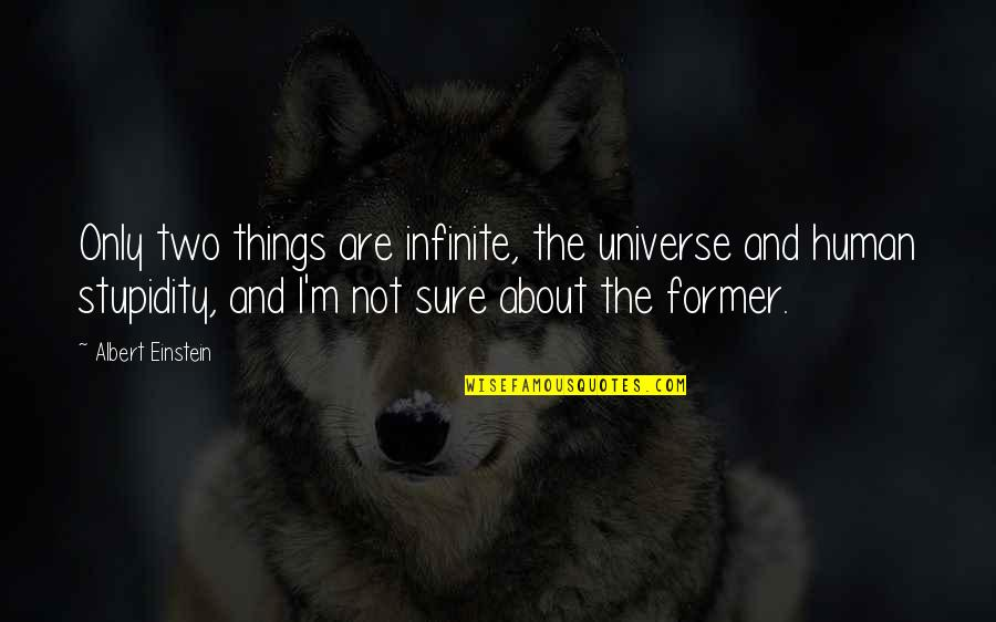 Well Connected Quotes By Albert Einstein: Only two things are infinite, the universe and