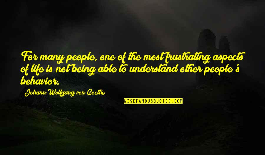 Well Connected Quotes By Johann Wolfgang Von Goethe: For many people, one of the most frustrating
