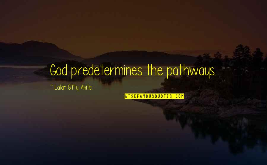 Well Connected Quotes By Lailah Gifty Akita: God predetermines the pathways.