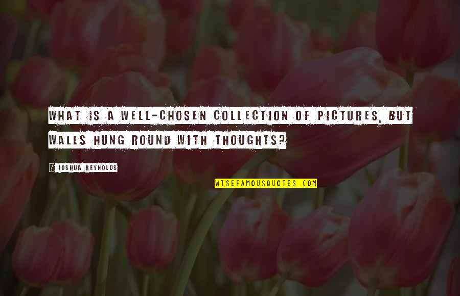 Well Hung Quotes By Joshua Reynolds: What is a well-chosen collection of pictures, but