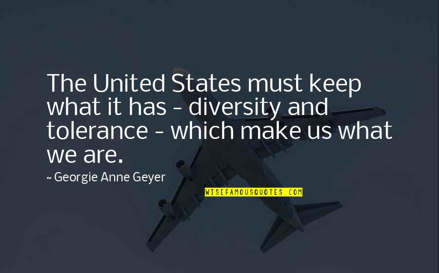 We'll Make It Quotes By Georgie Anne Geyer: The United States must keep what it has