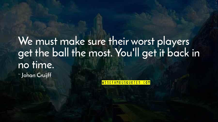 We'll Make It Quotes By Johan Cruijff: We must make sure their worst players get