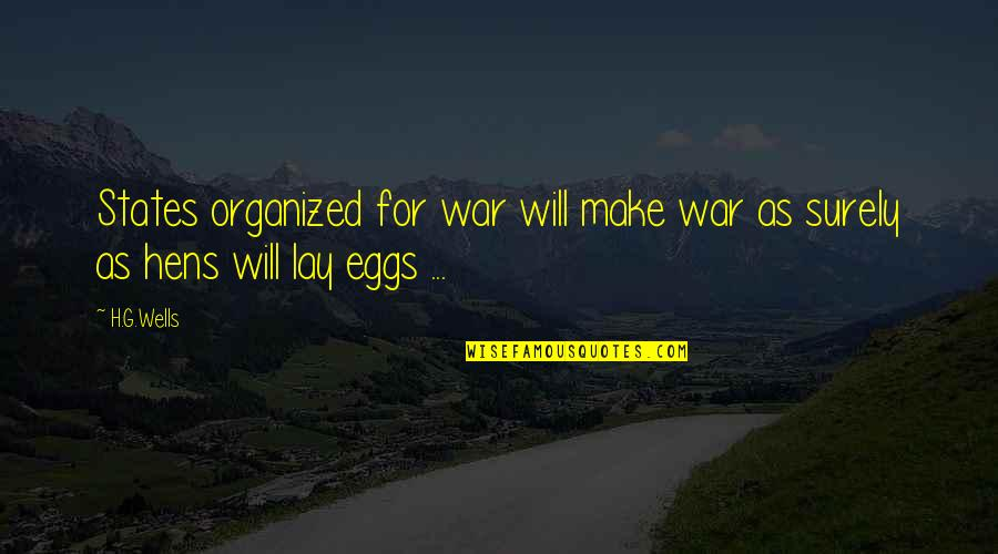 Wells Quotes By H.G.Wells: States organized for war will make war as