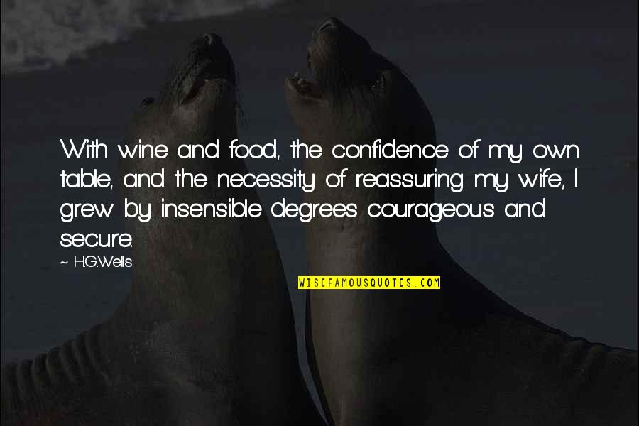 Wells Quotes By H.G.Wells: With wine and food, the confidence of my