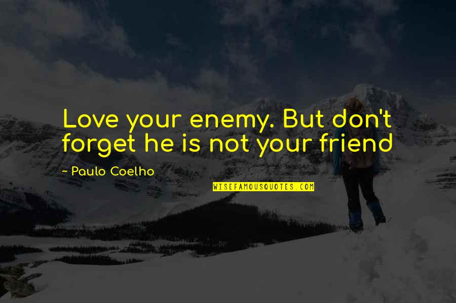 We're Just Friend Quotes By Paulo Coelho: Love your enemy. But don't forget he is