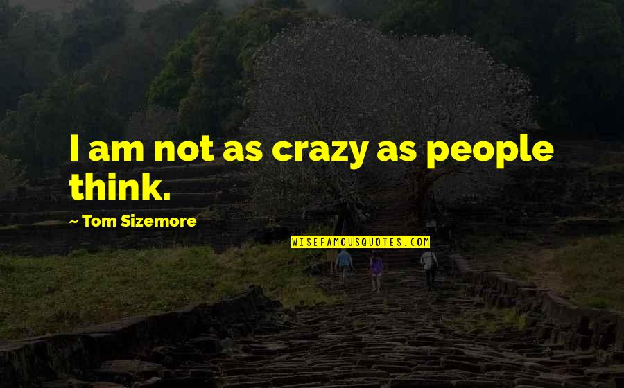 We're Not Crazy Quotes By Tom Sizemore: I am not as crazy as people think.