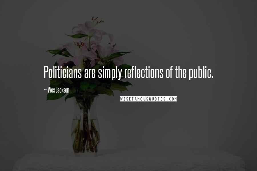 Wes Jackson quotes: Politicians are simply reflections of the public.