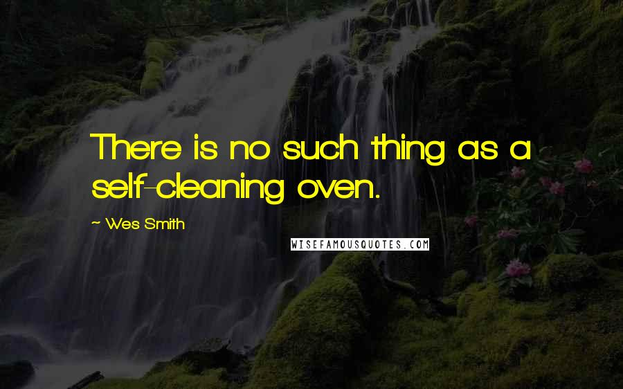 Wes Smith quotes: There is no such thing as a self-cleaning oven.